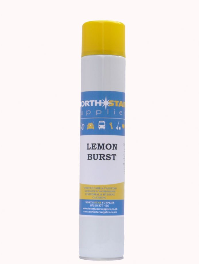 Burst Air Freshener 750ml - Bubble Gum, Cool Ice, Cranberry & Lemon Fragrance - North Star Supplies